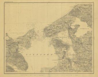 Isefjord Map - Denmark 1861