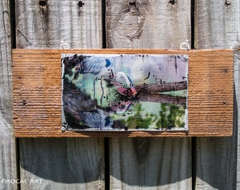 Wildlife Photo Printed on Upcycled Can - Great Blue Heron