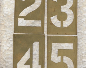 "5"" Number Stencil Brass Large 5 inch Pick your Number"