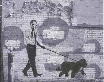 President Obama and Bo Graffiti- Washington DC