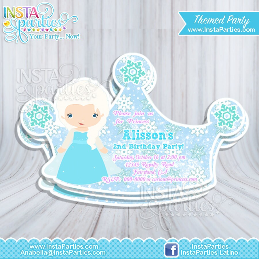 elsa birthday invitations - Romeo.landinez.co