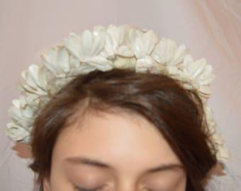 VTG White Wedding Headband