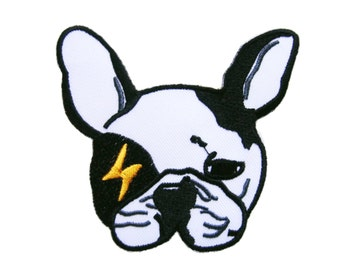 Dog Embroidered Applique Iron on Patch