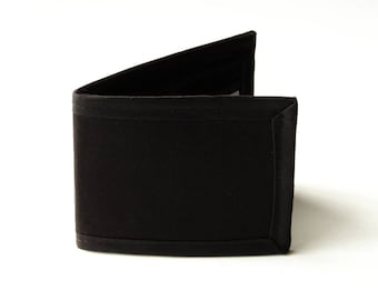 Plain and Simple Black Billfold Wallet