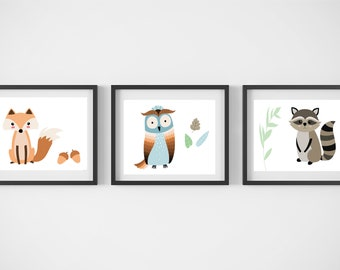 Forest Animals Nursery Artwork