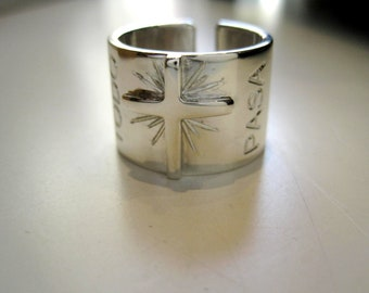 925 silver band Ring made by hand