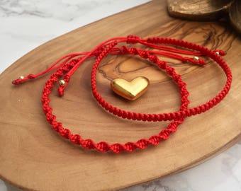Red String Bracelet, Red String of Fate, Red Protection Bracelet, Handmade Red Bracelet, Surfer Bracelet, Kabbalah Bracelet, Spiritual Gifts