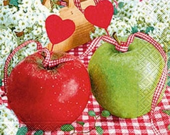 327 apples of love 1 lunch size paper towel