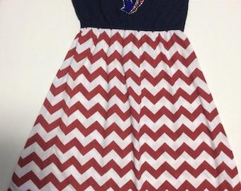 Custom Houston Texans Game Day Gameday Chevron Tshirt Dress any size