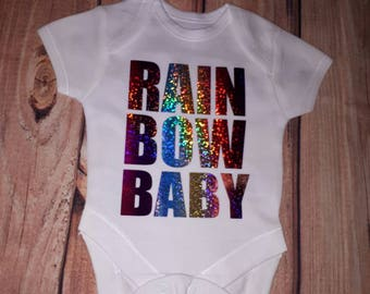 Rainbow baby vest/ dress your special rainbow baby in this lovely vest.