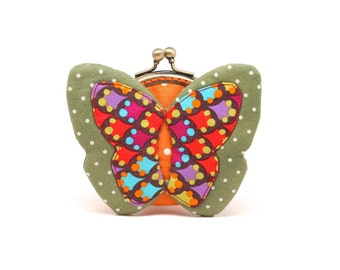 My secret green butterfly coin purse