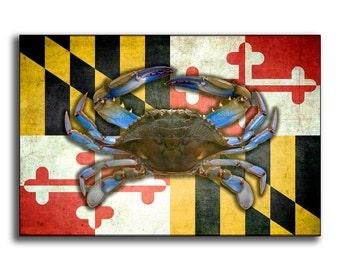 Maryland Crab Flag Photo Print
