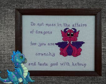 Affairs of Dragons - counted cross stitch chart - downloadable chart