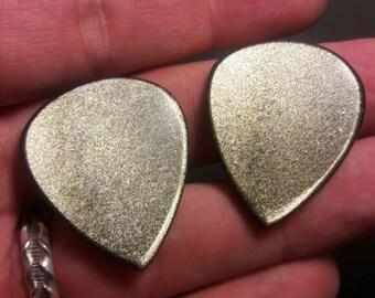 3mm Gold Sheen Obsidian guitar pick