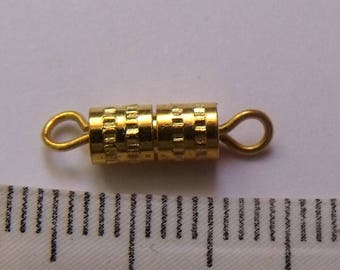 screw clasp, gold clasp, 16mm clasp, creation jewels, lot of 10 clasps