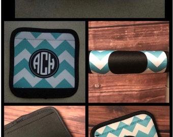 Monogram Chevron Luggage Tag