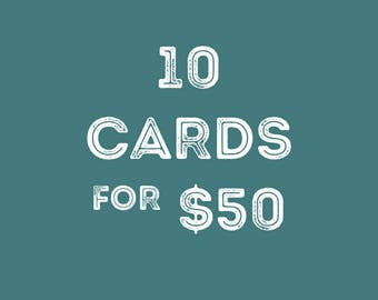 Greeting Cards Set of 10