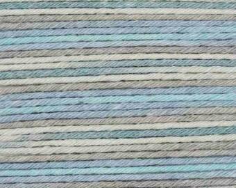 RICO BABY COTTON Soft Print Pelote fil coton et acrylique multicolore gris turquoise 50g 125m