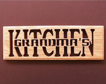 Grandma's Kitchen Wall Decor Cut On Scroll Saw