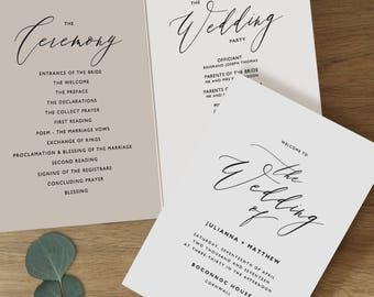 z fold wedding programs