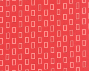 SALE - Moda Fabric - Simply Colorful - Red - V and Co - 10842 19 - Cotton fabric by the yard(s)