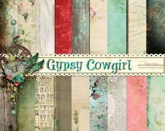 Gypsy Cowgirl Paper Set
