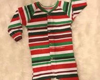 Colored Stripes Snap up romper