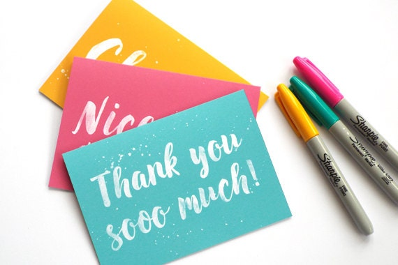 Thank You Cards Thank You Cards Set Pack of Thank You Cards