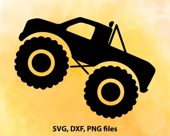 Monster Truck SVG File Cutting Template-Vector Clip Art for