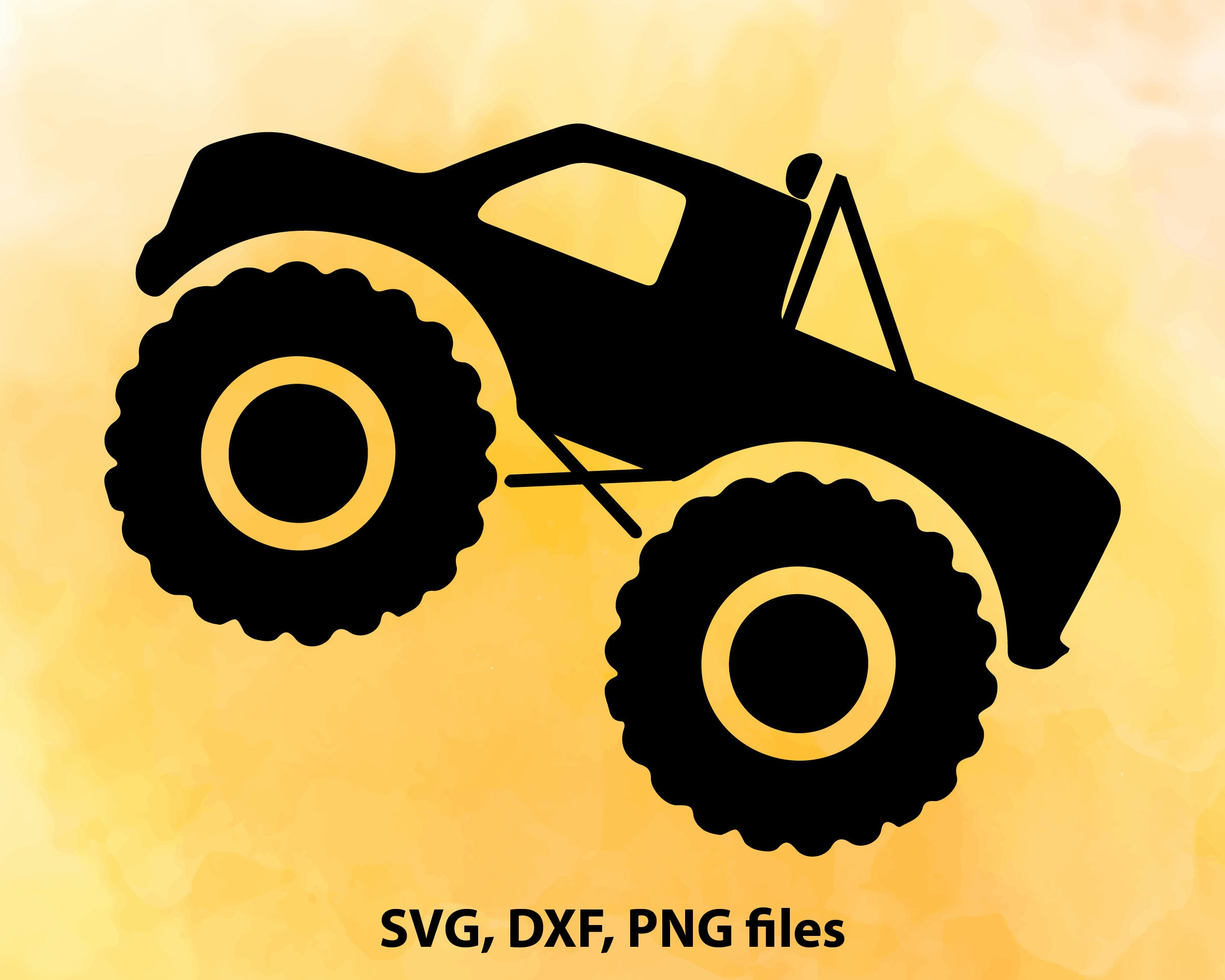 Monster Truck SVG File Cutting Template-Vector Clip Art for ...