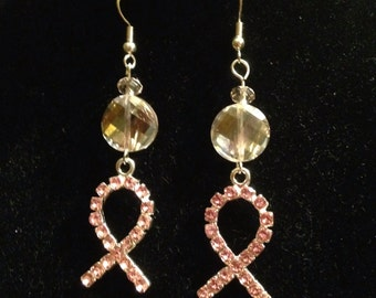 Rhinestone Ribbon Earrings