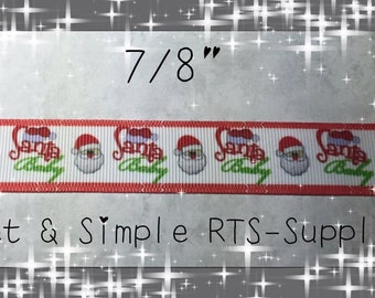 Santa Baby Christmas Ribbon