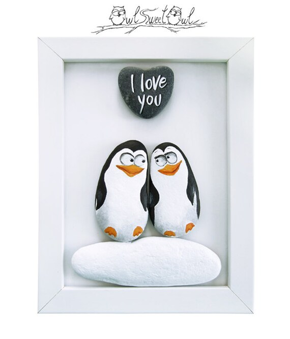 Accroche sac - pingouins amoureux uvaVq