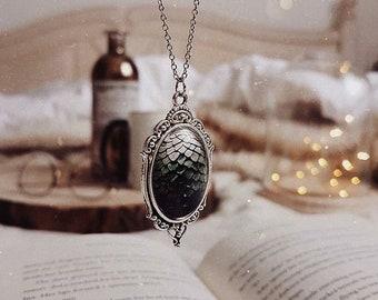 "Necklace Dragon Egg ""grey"""