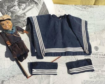 Sailor's collar and cuffs, child's size, vintage