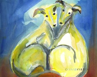 Italian Greyhound, Dog Art, Greyhound art,greyhound prints, greyhounds, Italian greyhound art