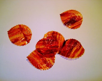set of rigid Brown leaves