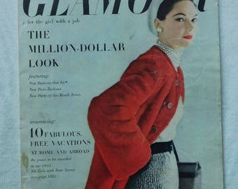 October 1952 Glamour Fashion  Magazine
