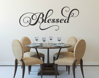 Blessed Decal Family Wall Decal Picture Wall Decal Blessed Wall Decal Family Vinyl Decal Family Wall Decor Family Decal Home Wall Decal
