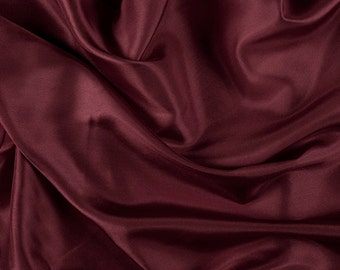"""45"""" Wide 100% Silk Habotai Antique Red-Wholesale by the Yard (2000M170)"""