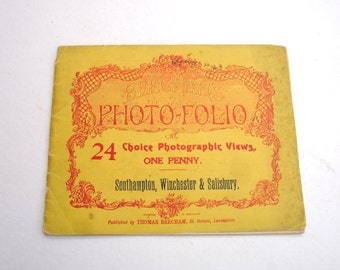 1920s Beechams Photo Folio 24 Choice Photographic Views of Southampton Winchester & Salisbury