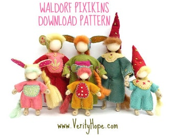 Waldorf inspired bendy doll making pattern and tutorial