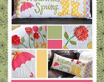 Kimberbell Welcome Spring pattern, bench pillow pattern,