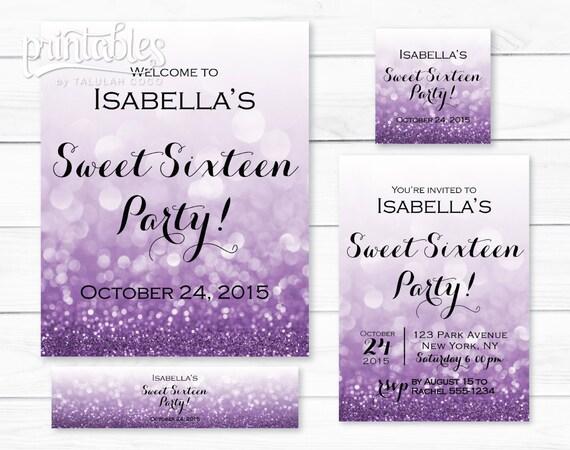 Vibrant image inside sweet 16 birthday invitations free printable