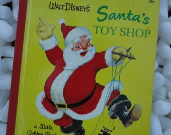 Walt Disney's Santa's Workshop a Little Golden Book Copyright 1950
