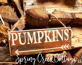 READY TO SHIP! Pumpkins, Arrow Signs, Rustic, Farmhouse Decor, Handpainted, Primitive, Country Decor, Autumn, Harvest, Thanksgiving Decor