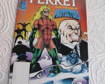THE FERRET - Issue 1  Sept 1992 - Modern Age Malibu Comics Vintage Comic Book