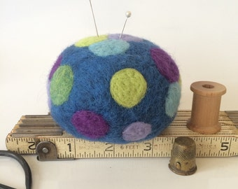 Ultimate Wool Felted Pin Cushion for Quilters - Needle felted wool pin cushion