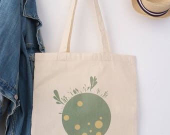 """Bag 100% cotton Tote bag """"Green Collection"""", only for earth lovers"""