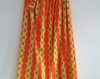 vintage cotton maxi skirt